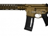 Bacon Maker AR-15 chambered in 300 AAC Blackout and finished in Burnt Bronze Cerakote