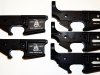 Bacon Maker AR-15 lowers with DONT TREAD ON ME Gadsen Rattlesnake and COME AND TAKE IT inscriptions.