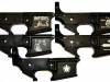 Bacon Maker AR-15 lower receivers with various inscriptions